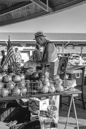 The Onion Vendor (B&W)