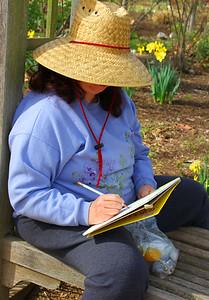 Artist at Descanso Gardens