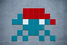 Space invader in beret