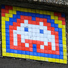 Close-up of a space invader on Charterhouse Street - LDN_68