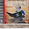 Boy Reading, Street Art in Montorgueil Quartier, Paris, 2013.