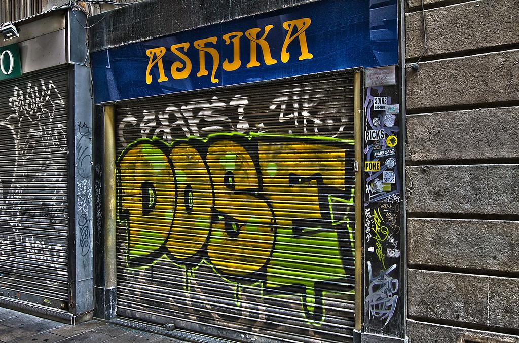 Security Door Graffiti