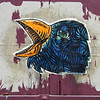 Blue Crow, Street Art, Paris, 2011.