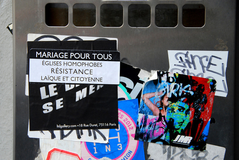 Marriage Equality Sticker, Paris, 2013.