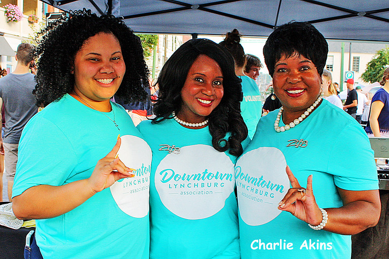 These ladies volunteered at the festival.