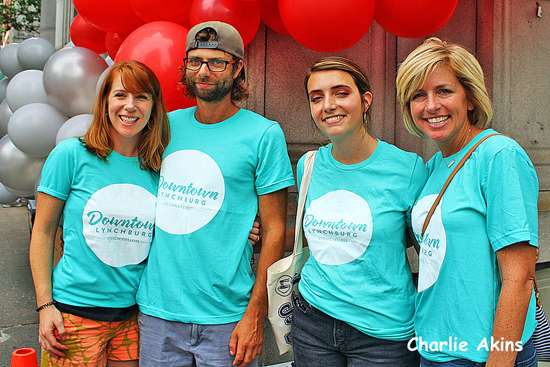 This group volunteered at the festival.