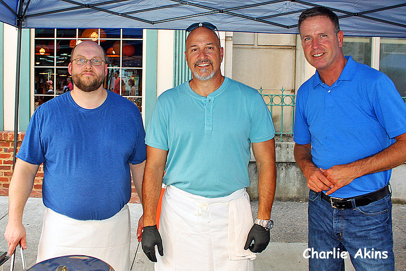 These gentlemen served food from Main St. Eatery.