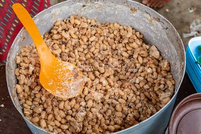 Street foods Lagos Nigeria, Ewa Agoyin - boiled brown beans- ewa oloyin. in a bowl on Victoria Island Lagos Street,