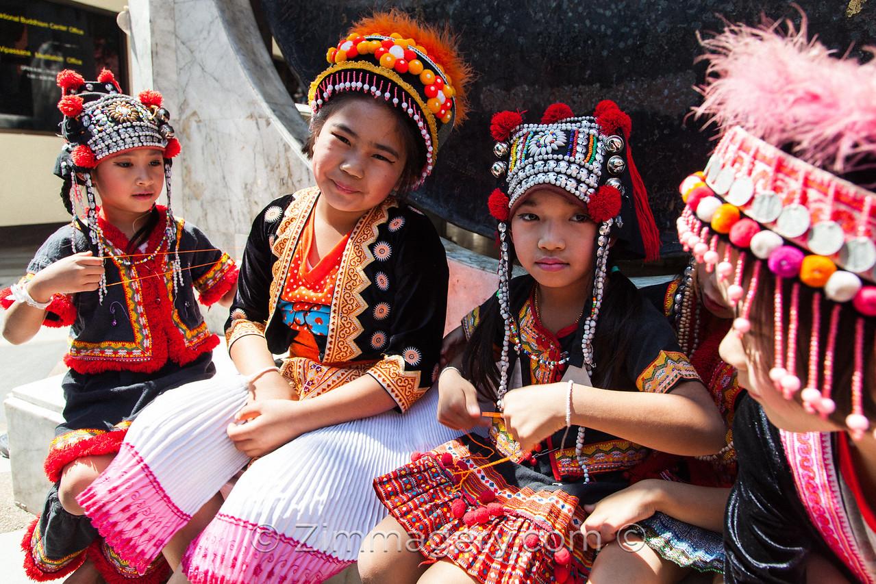 Children in Traditional Dress, Doi Suthep, Chaing Mai, Thailand