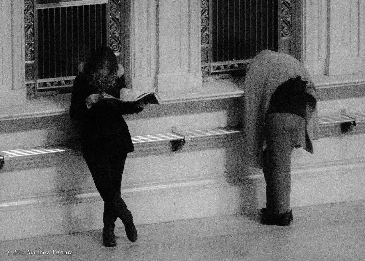 Pay No Attention to the Man Beside the Window, Grand Central Station, New York
