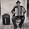 Accordion Player.  Munich.