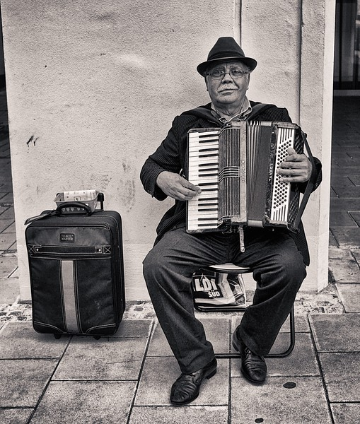 Accordion Player.  Munich.