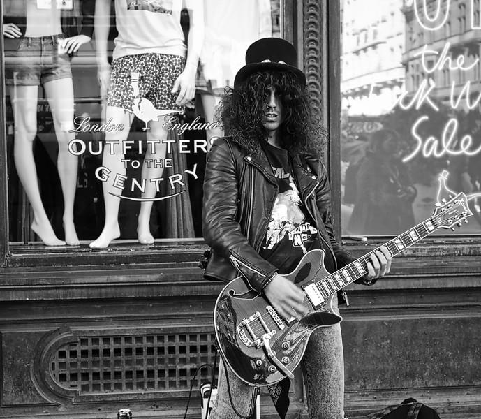 Electric Guitar Player.  Glasgow.