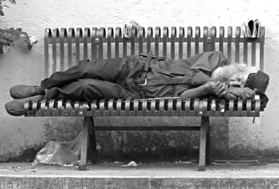 """FEATURED WORK: Sans Domicile Fixe à la Coulée Verte I  Oxford Open Learning, Distance Learning and Home Study, UK  http://www.ool.co.uk/  This photograph, appearing as """"Sans Domicile Fixe"""" (""""Homeless""""), is published in the Oxford Open Learning A2-Level French language course textbook. It accompanies a subject exercise aimed to explore principal reasons behind poverty and homelessness."""