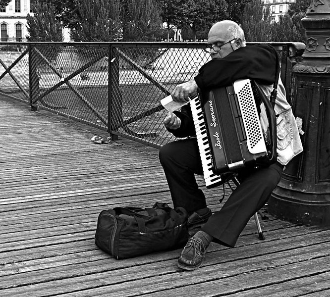 Accordéoniste, Pont des Arts, Paris
