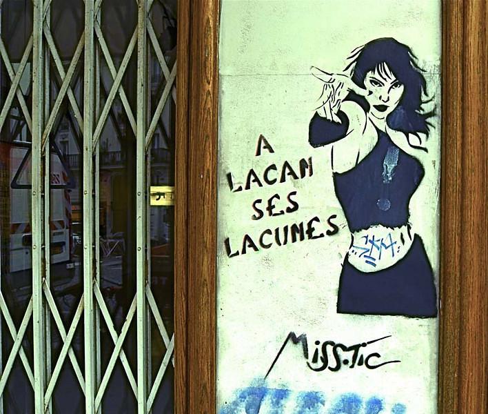 Pochoir (Stencil) Art by Miss-tic on Rue LePic, Montmartre, Paris