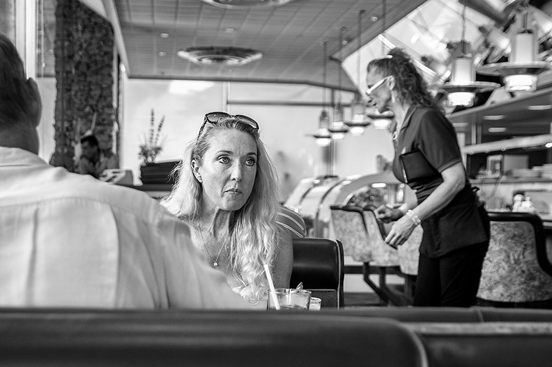 A Face in a Diner