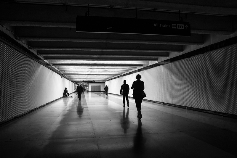 Light at the end... (Powell Street Subway Entrance)