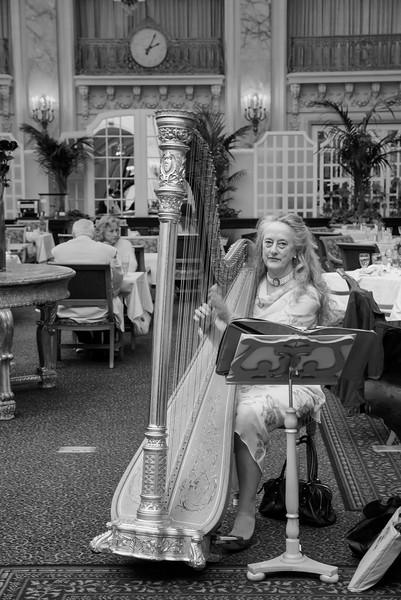 Portrait of a Harpist, Palace Hotel