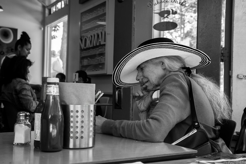 The Elegant Lady and Her Hat, San Francisco