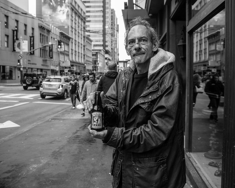Portrait of Frank on Kearny Street