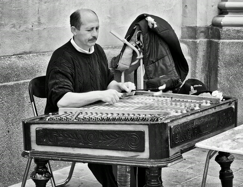 Zither player. Munich.