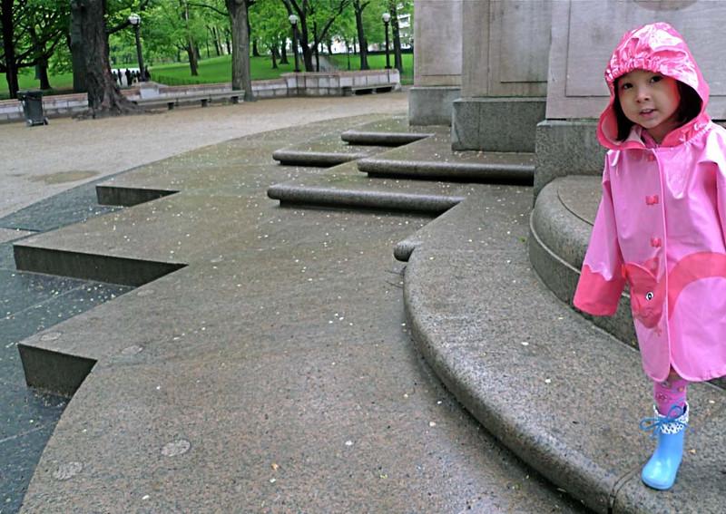 Inquisitive - Central Park, Maine Monument Pedestal II