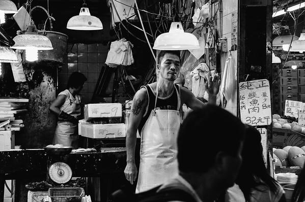Wanchai Market Sunday Evening