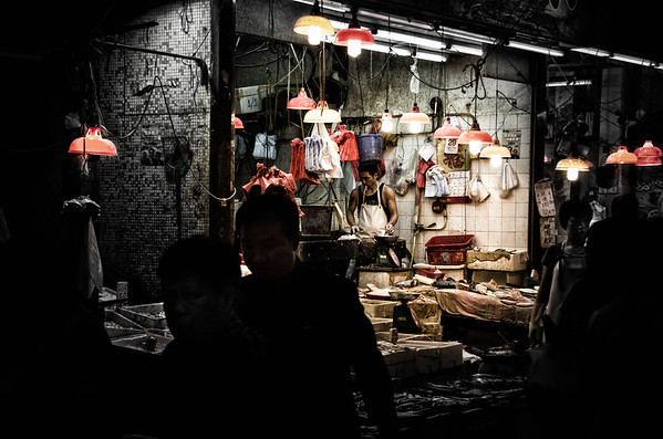 Wanchai Market Sunday Evening
