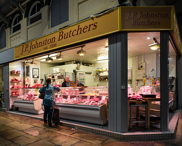 One for the Chop: Butchers, Covered Market, Leeds.