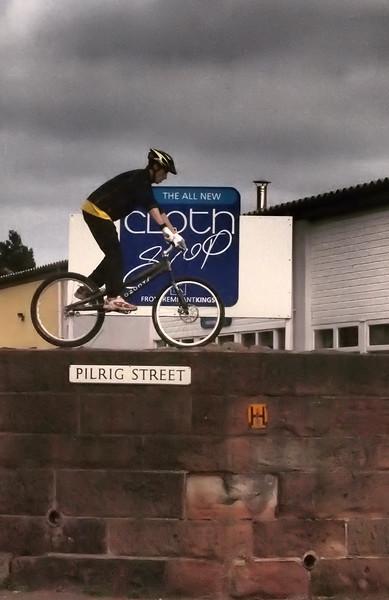 Wall Cycling in Pilrig