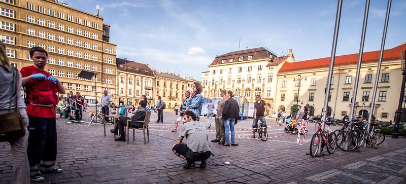 A Square in Krakov