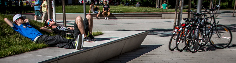 Berlin Bikers Basking in the Sun