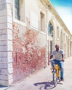 Vencie Biennale Cyclist
