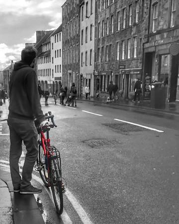 A bicycle in Edinburgh