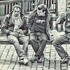 Three Men on a bench