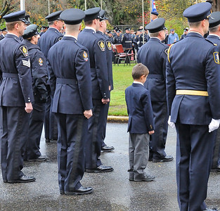 Standing with his Dad and the VPD