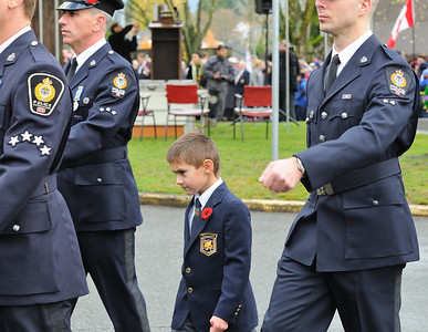 Marching with His Dad and the VPD