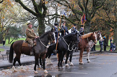 Horsemen at Remembrance Day