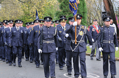 Vancouver Police Marching at remembrance Day