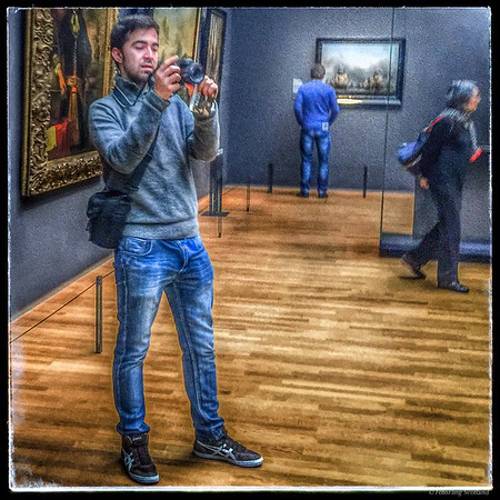 Shooting the Old Masters #Rijksmuseum #gallery #photographer #camera #jeans