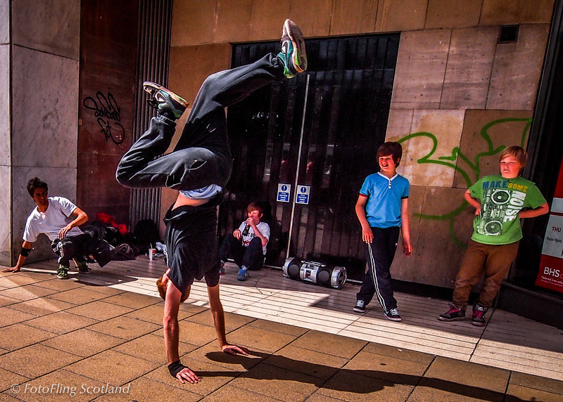 Breakdancing<br /> Princes Street, Edinbrugh