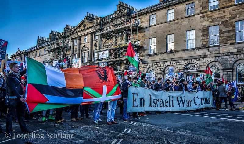 Gaza Conflict: - Demonstration in Charlotte Square Edinburgh