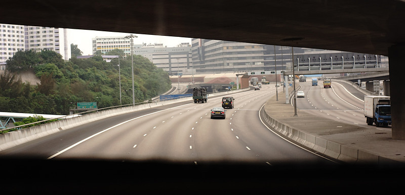 View from 962 bus, Hong Kong