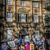 Demonstrators at Bute House<br /> Gaza Conflict: - Demonstration in Charlotte Square Edinburgh