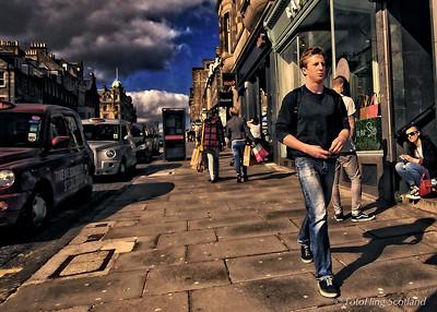 Street Walking in Edinburgh