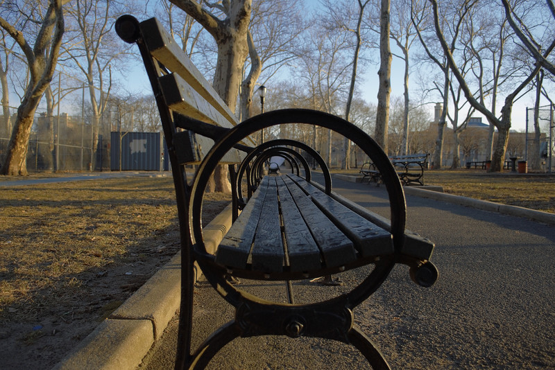 Park Bench at Thomas Jefferson Park
