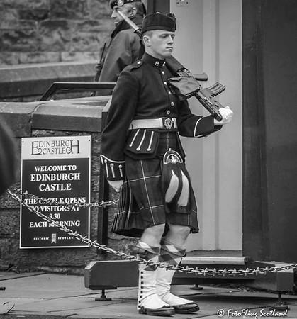 Guarding Edinburgh Castle