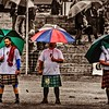 Three Heavies in the Rain - Crieff Highland Games #highlandgames  #meninkilts #kilted #kilt #scotland #scottish #event #heavyweight  #tartan l#crieff   #tartan #male #scottish