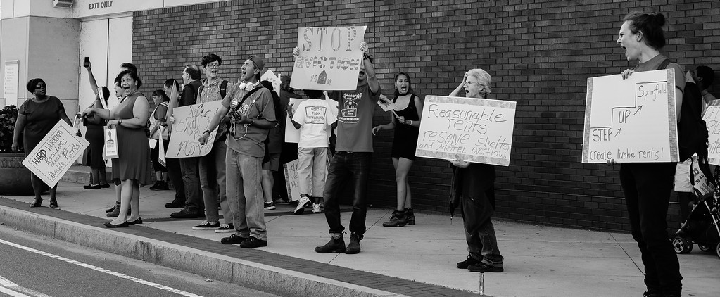 Housing Protest 1, Springfield, MA Sept 2016